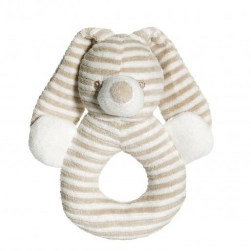 Teddykompaniet Cotton Cuties Beige Rabbit Rattle 16Cm
