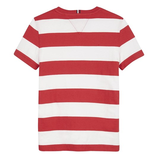 Tommy Hilfiger Rugby Stripe  Graphic Tee S/S 10-16Y