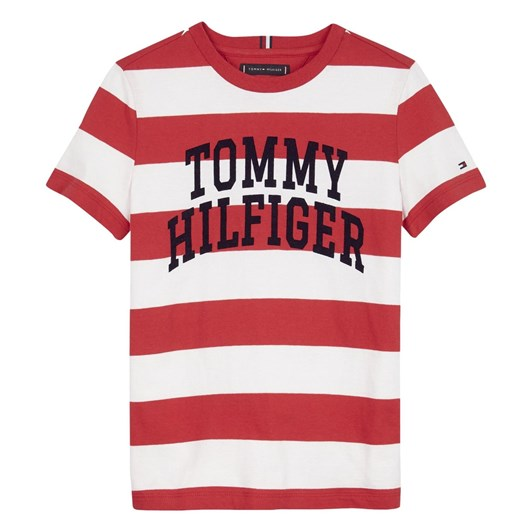 Tommy Hilfiger Rugby Stripe Graphic Tee S/S 3-8Y