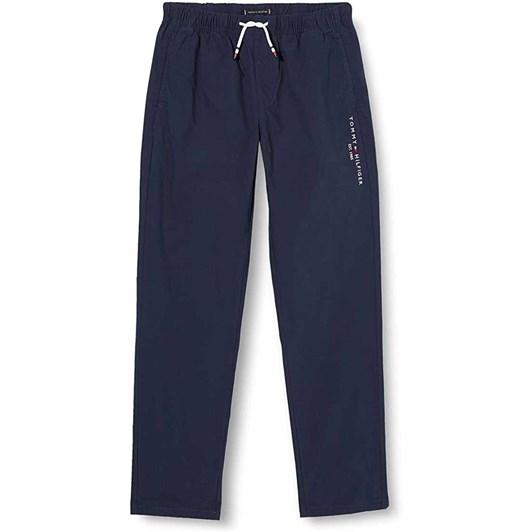 Tommy Hilfiger Stretch Poplin Pull On Pants 3-8Y