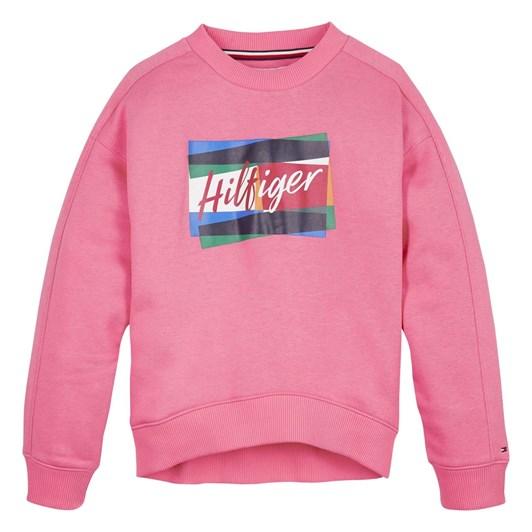 Tommy Hilfiger Fun Flag Crew Sweatshirt 3-8Y