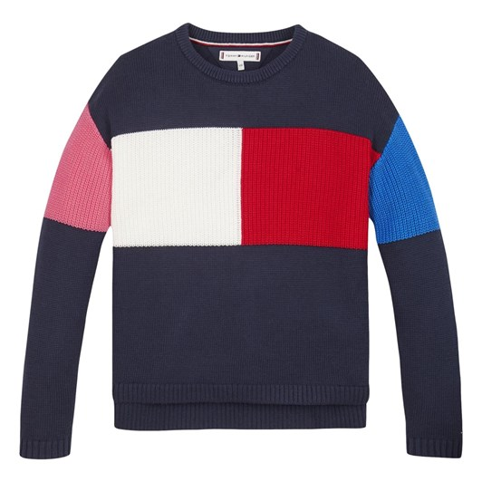 Tommy Hilfiger Colorblock Flag Sweater 3-8Y