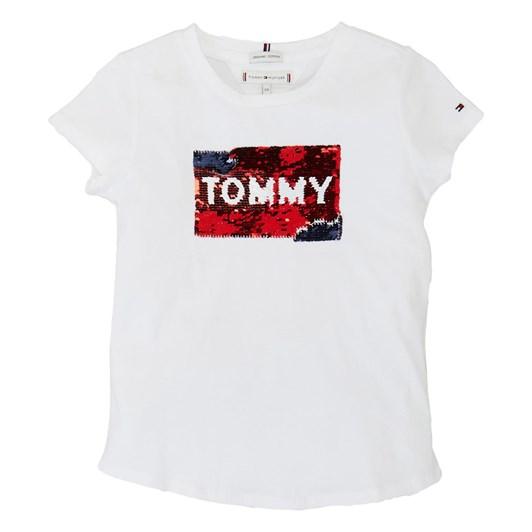 Tommy Hilfiger Flag Flip Sequins Tee S/S 3-8Y