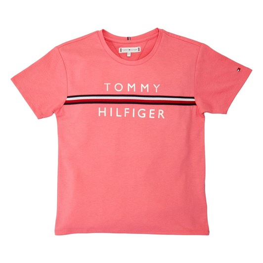 Tommy Hilfiger Flag Tape Tee S/S 3-8Y