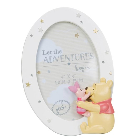 Disney Gift Collections Pooh - Round Resin Frame Pooh & Piglet