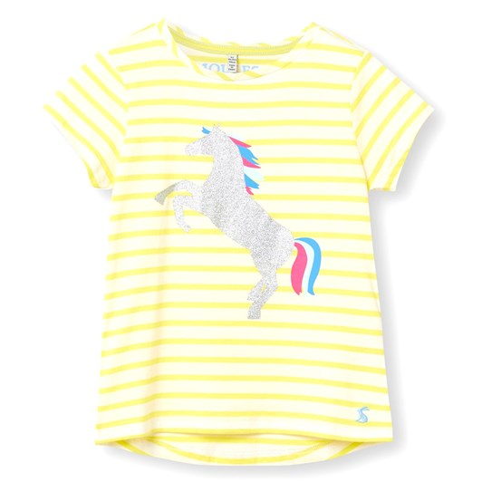 Joules Pixie Yellow Stripe Horse Top