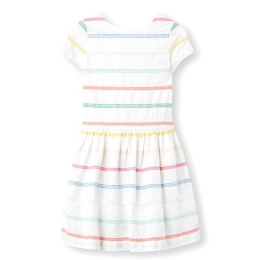 Joules Teaparty White Multi Stripe Dress