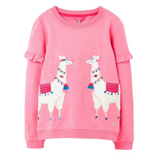 Joules Tiana Pink Llamas Fleece