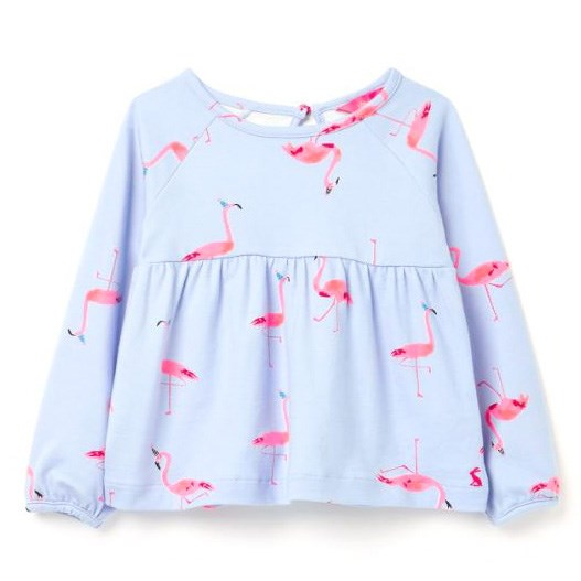 Joules Flitwell Blue Flamingoes Top