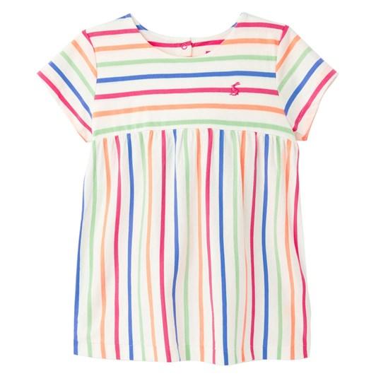 Joules Winnow White Multi Stripe Top