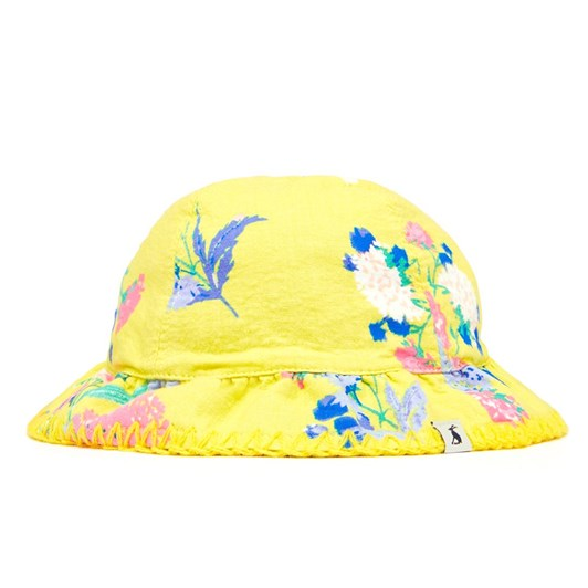 Joules Sunseeker Yellow Floral Hat