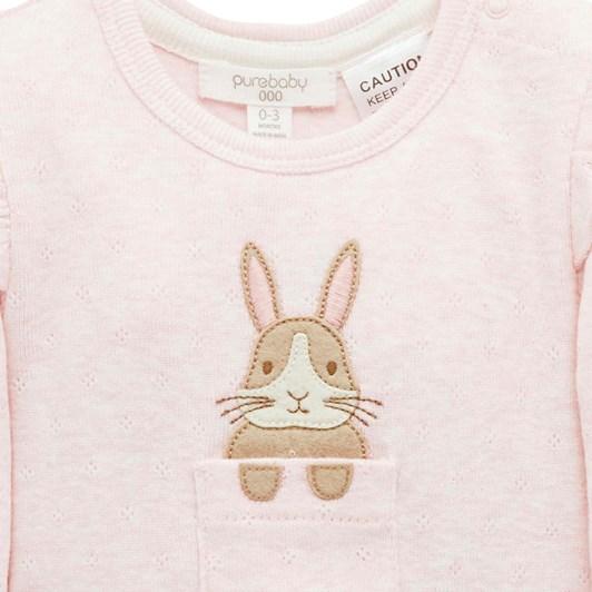 Purebaby Ruffle Bunny Bodysuit