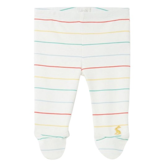 Joules The Crawlers White Multi Stripe Trousers