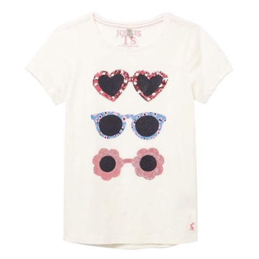 Joules Astra White Glasses Top