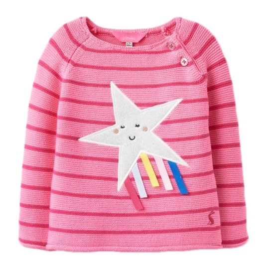 Joules Winnie Pink Shooting Star Top
