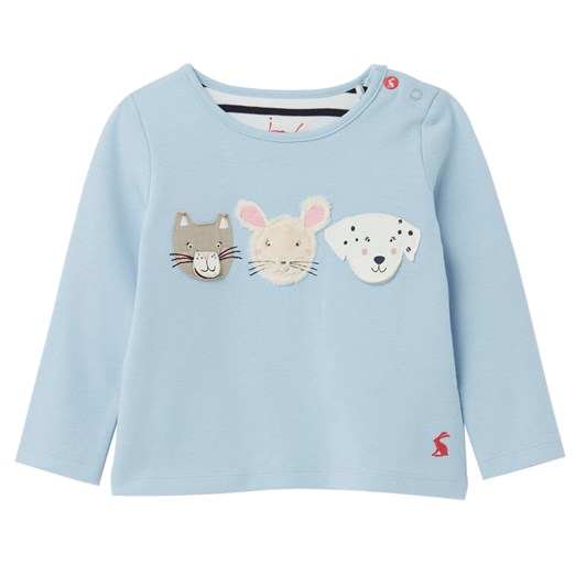 Joules Chomp Blue Animal Faces Top