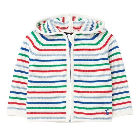 Joules Conway White Multi Stripe Top
