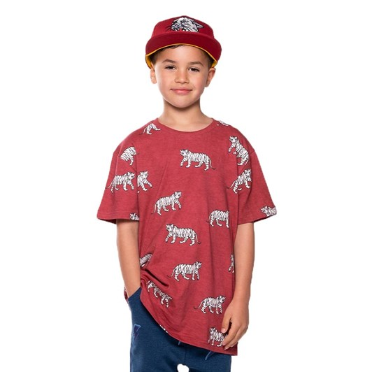 Band of Boys Cool Cats Repeat Oversize Tee 3-7Y