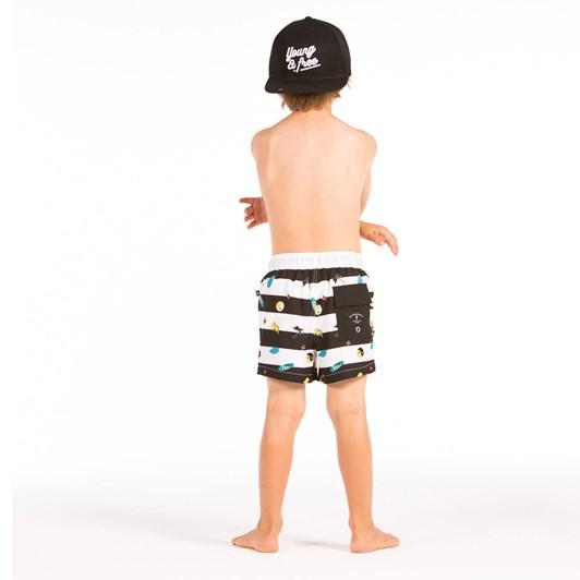 Hello Stranger Striped Boardshort 8-12Y