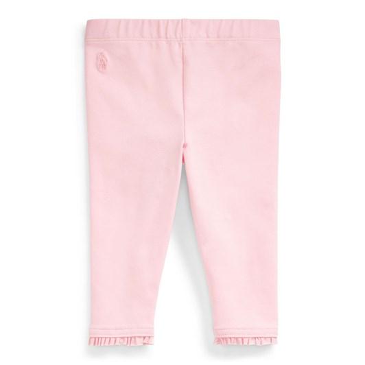 Polo Ralph Lauren Ruffled Stretch Cotton Legging