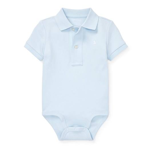 Polo Ralph Lauren Cotton Interlock Polo Bodysuit