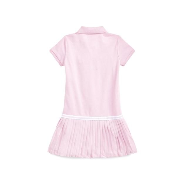Polo Ralph Lauren Pleated Mesh Polo Dress 2-4Y - carmel pink