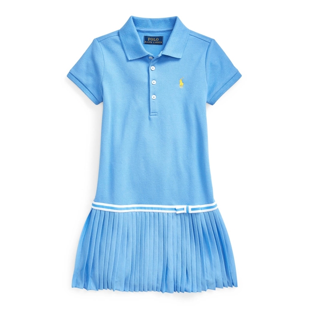 Polo Ralph Lauren Pleated Mesh Polo Dress 2-4Y - harbor island bl