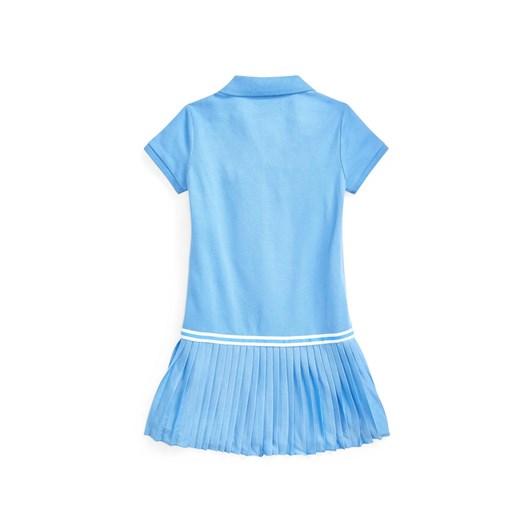 Polo Ralph Lauren Pleated Mesh Polo Dress 2-4Y