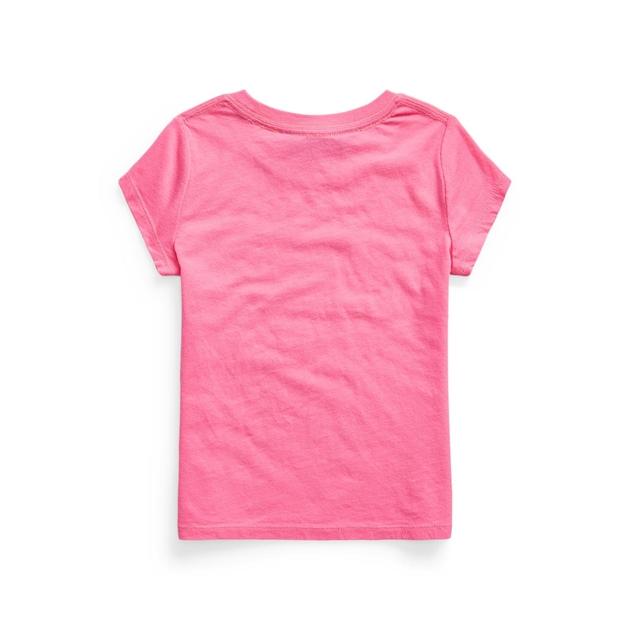 Polo Ralph Lauren Logo Cotton Jersey Tee 2-4Y - baja pink