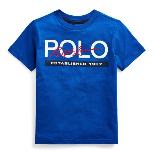 Polo Ralph Lauren Logo Cotton Jersey Tee 5-7Y