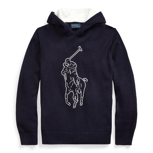 Polo Ralph Lauren Big Pony Cotton Hooded Sweater 8-16Y