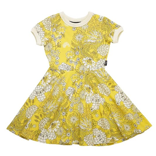 Rock Your Baby Golden Dragon SS Waisted Dress