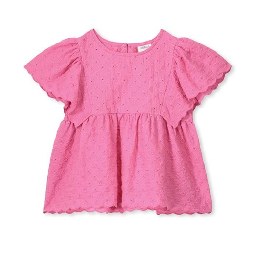 Milky Candy Pink Broderie Frill Tee