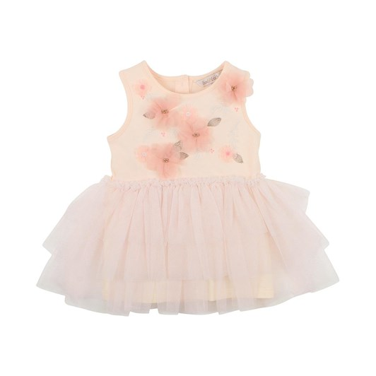 Fox & Finch Shimmer Pink Tulle Dress 3-7Y
