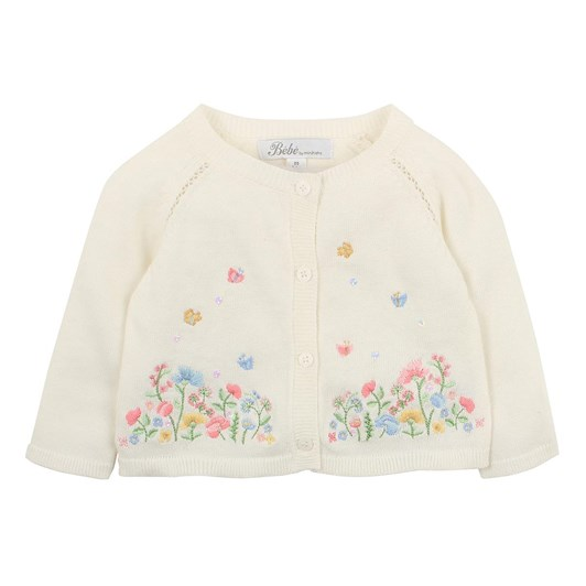 Bebe Isla Embroidered Cardigan