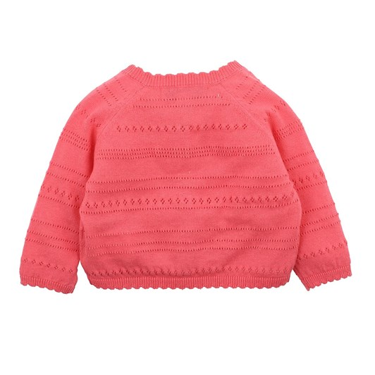 Bebe Hot Pink Pointelle Cardigan