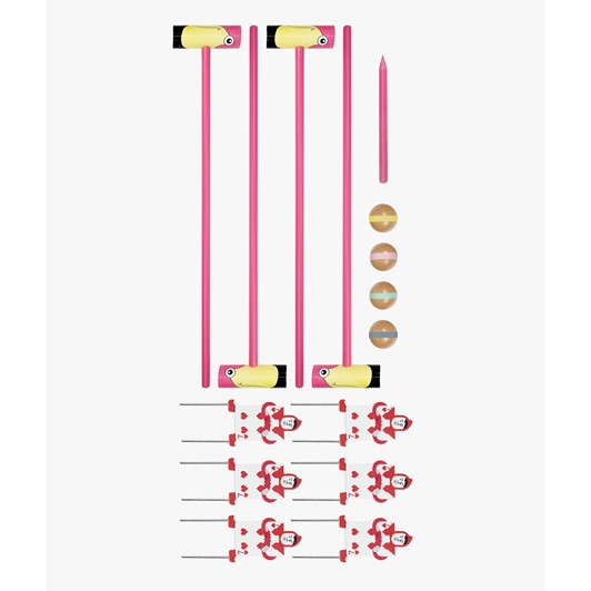 Professor Puzzle Queen Of Hearts Flamingo Croquet