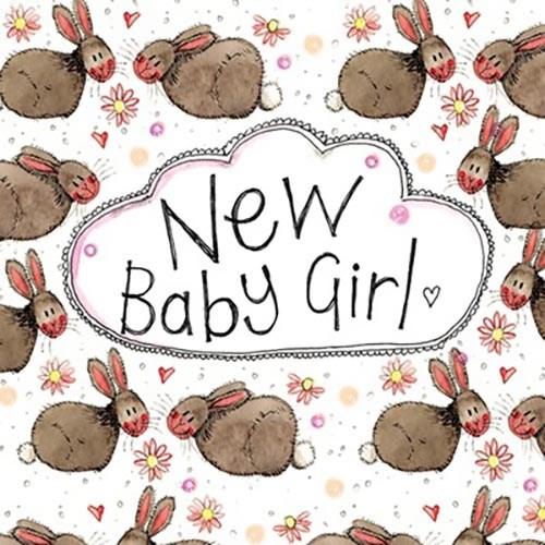 Oxted Rabbit Baby New Baby Girl Card