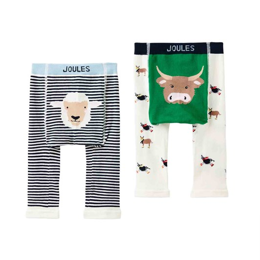 Joules Lively Character Knit Leggings 2 Pack