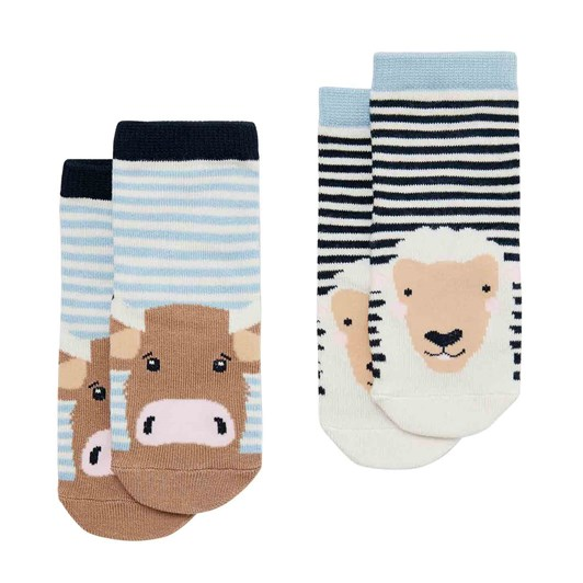 Joules Neat Feet Character Baby Socks 2 Pack