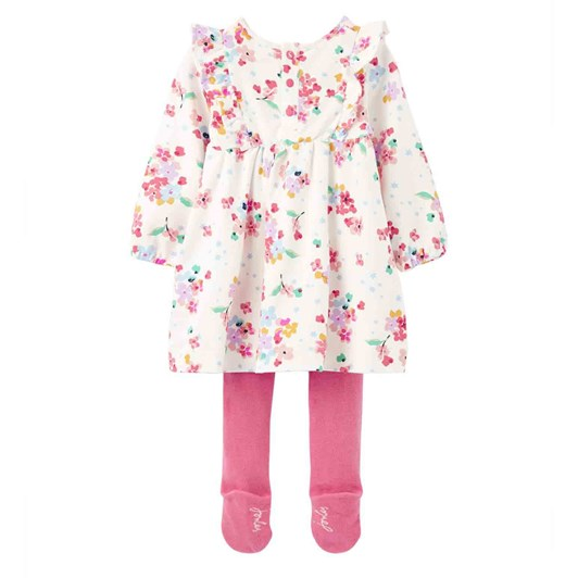 Joules Harleigh Dress & Tights Baby Girls Set