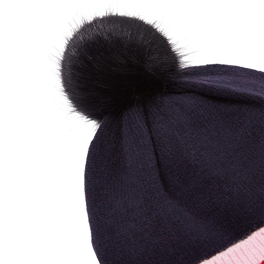 Joules Bobble Ribbed Knit Hat