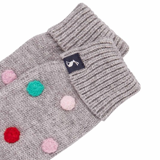 Joules Caldwell Luxe Pom Pom Mittens