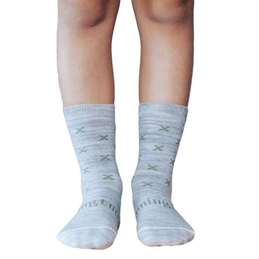 Lamington Socks Basil Merino Wool Crew Socks 2-6Y