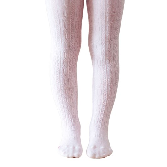 Lamington Socks Cherry Blossom Merino Wool Cable Tights 2-4Y