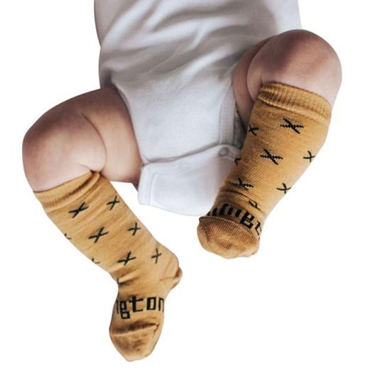 Lamington Socks Chestnut Merino Wool Knee High Socks NB-2Y