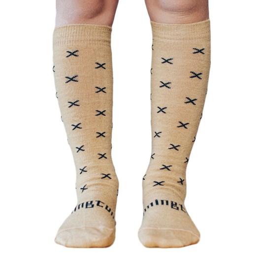 Lamington Socks Chestnut Merino Wool Knee High Socks 2-4Y