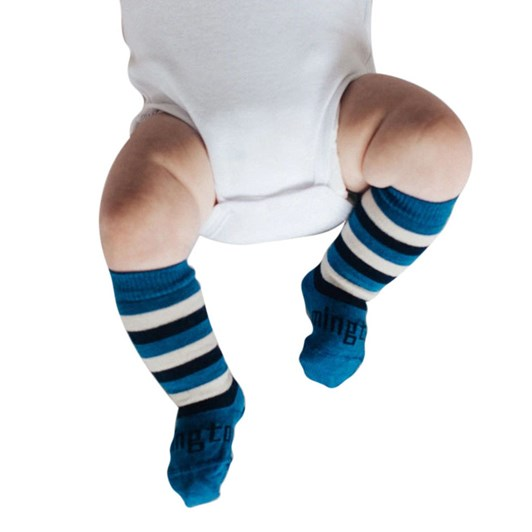 Lamington Socks Marine Merino Wool Knee High Socks NB-2Y