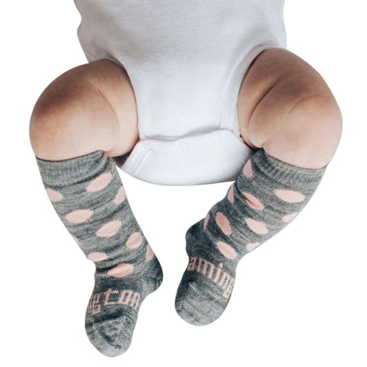 Lamington Socks Pompom Merino Wool Knee High Socks NB-2Y