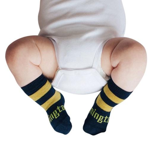 Lamington Socks Sprig Merino Wool Crew Socks NB-2Y